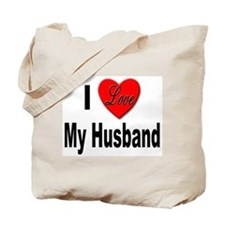 I Love My Husband Tote Bag