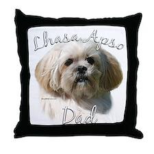 Lhasa Apso Dad2 Throw Pillow