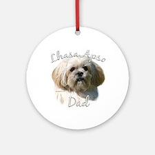 Lhasa Apso Dad2 Ornament (Round)