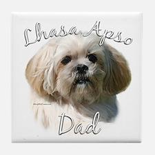 Lhasa Apso Dad2 Tile Coaster
