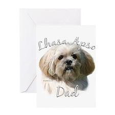 Lhasa Apso Dad2 Greeting Card