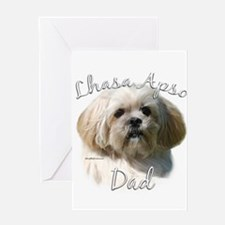 Lhasa Apso Dad2 Greeting Card