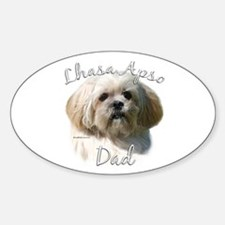 Lhasa Apso Dad2 Oval Decal