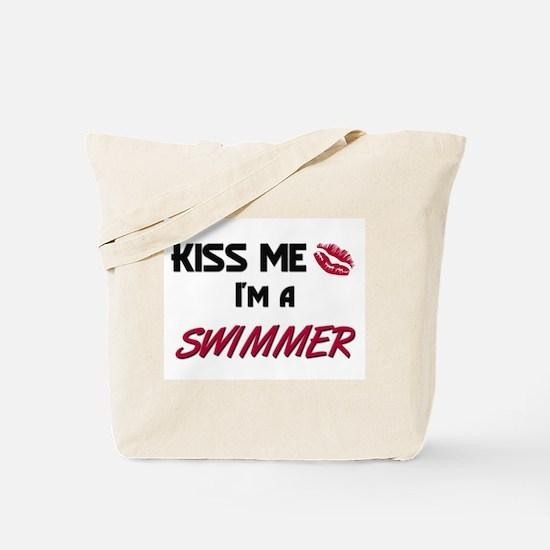 Kiss Me I'm a SWIMMER Tote Bag