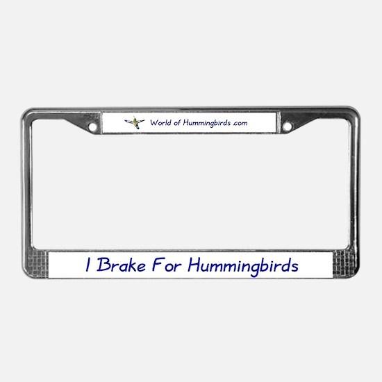 World of Hummingbirds .com License Plate Frame
