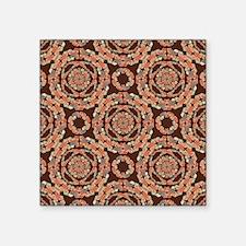 Brown decorative pattern Sticker