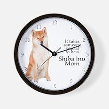 Shiba Inu Mom Wall Clock