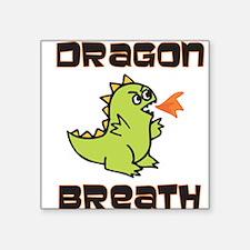 """Funny Bad breath Square Sticker 3"""" x 3"""""""