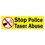 Stop Police Taser Abuse bumper sticker