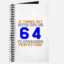 64 I'm Approaching Perfection Birthday Journal