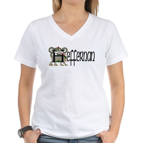 Heffernan Celtic Dragon Women's V-Neck T-Shirt