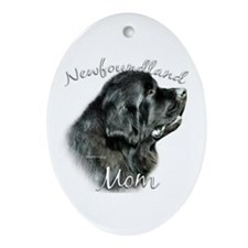 Newfie Mom2 Oval Ornament