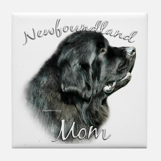 Newfie Mom2 Tile Coaster
