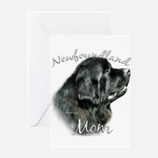 Newfie Mom2 Greeting Card