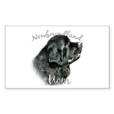 Newfie Mom2 Rectangle Decal