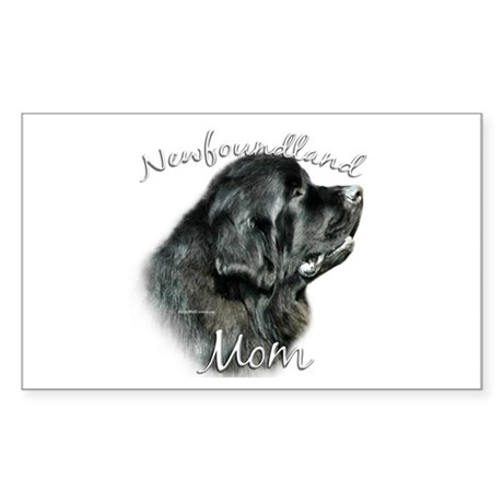 Newfie Mom2 Rectangle Sticker