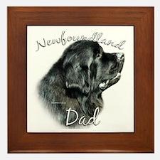 Newfie Dad2 Framed Tile