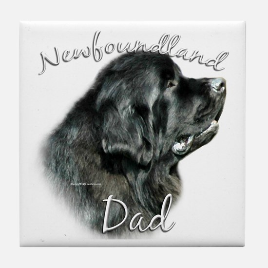 Newfie Dad2 Tile Coaster
