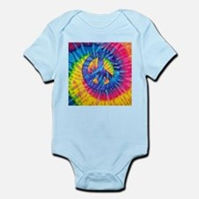 Peace Sign Hippie Hippy Psychedelic Tie- Body Suit
