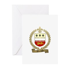 THERIAULT Family Crest Greeting Cards (Pk of 20)