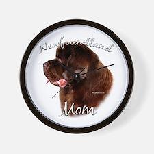 Newfie Mom2 Wall Clock