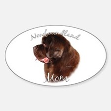 Newfie Mom2 Oval Decal