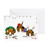 Basset hound christmas Greeting Cards