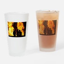 Three firemen Drinking Glass
