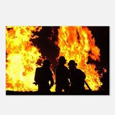 Three firemen Postcards (Package of 8)