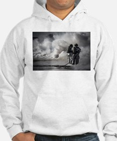 Firefighters (Black and White) Hoodie
