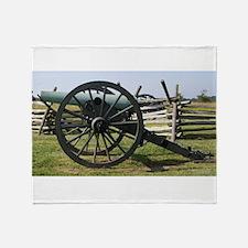 Battlefields of Gettysburg PA Cannon Throw Blanket