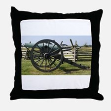 Battlefields of Gettysburg PA Cannon Throw Pillow