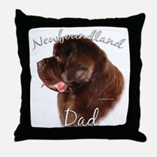 Newfie Dad2 Throw Pillow