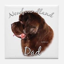 Newfie Dad2 Tile Coaster