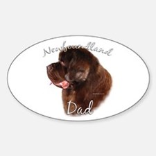 Newfie Dad2 Oval Decal