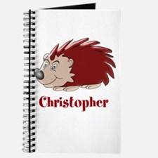Personalized Hedgehog Journal