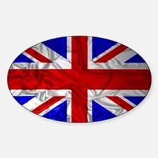 Wrinkled Union Jack Flag Decal