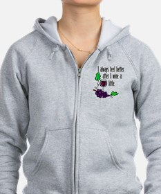 Cute Wine glass Zip Hoodie