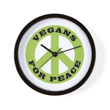 Vegans For Peace Wall Clock