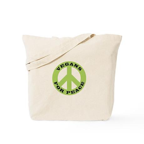 Vegans For Peace Tote Bag