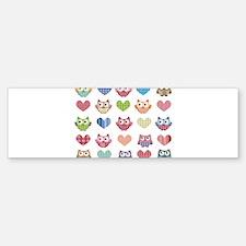 Owls & Hearts Bumper Bumper Bumper Sticker