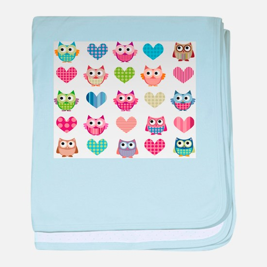 Owls & Hearts baby blanket
