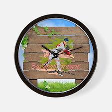Baseball Groupie Wall Clock