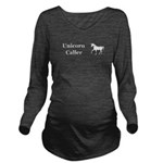 Unicorn Caller Long Sleeve Maternity T-Shirt