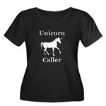 Unicorn Women's Plus Size Scoop Neck Dark T-Shirt