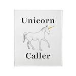 Unicorn Caller Throw Blanket