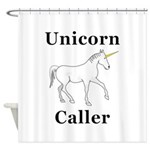 Unicorn Caller Shower Curtain