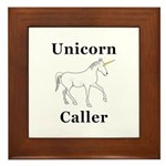 Unicorn Caller Framed Tile