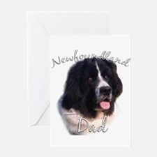 Newfie Dad2 Greeting Card