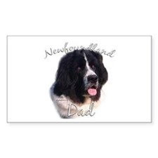 Newfie Dad2 Rectangle Decal